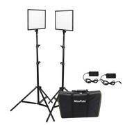 Kit Iluminação Led Super Slim NiceFoto SL307 50W de 3200-6500K para Estúdio Fotográfico (Tripés e Fonte AC Bivolt)