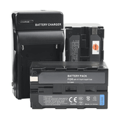 Kit-2x-Baterias-e-Carregador-NP-F750---F770-para-Sony-Monitores-e-Iluminadores-de-Led