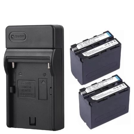 Kit-2x-Baterias-e-Carregador-NP-F960---F970-para-Sony-Monitores-e-Iluminadores-de-Led