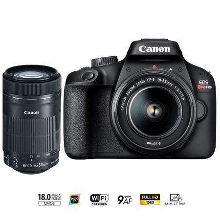 Câmera Digital Canon Preto 18.0mp - T-100 | 18-55mm