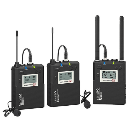 Sistema-de-Microfone-Lapela-Sem-Fio-LWM-338-Duplo-Wireless-para-Cameras-e-Smartphone