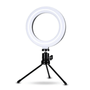 Iluminador-Led-Circular-6--Bi-Color-Video-Ring-Light-16cm-USB-com-Mini-Tripe-de-Mesa