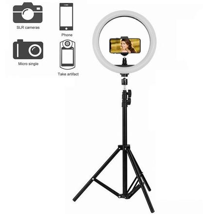 Iluminador-Led-Circular-10--Ring-Light-Live-26cm-USB-com-Tripe-e-Suporte-de-Celular
