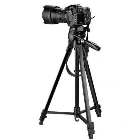Tripe-Compacto-TR462-com-Cabeca-3-vias-360-de-1.57m-em-Aluminio-para-Cameras-e-Filmadoras