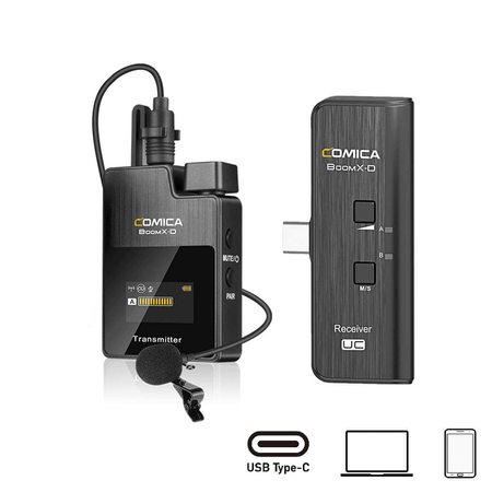Sistema-Wireless-Digital-Microfone-Comica-BoomX-D-UC1-Sem-Fio-Ultra-Compacto-USB-C-para-SmartPhones-Android