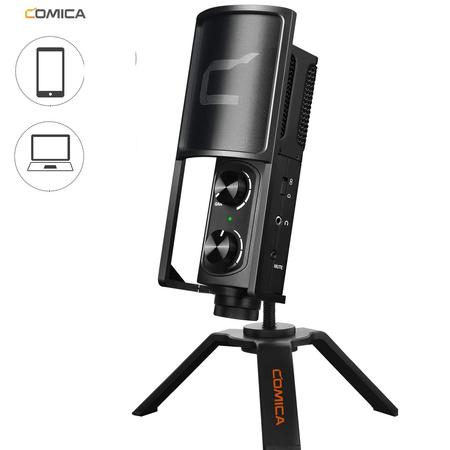 Microfone-de-Mesa-USB-Condensador-Comica-STM-USB-Interface-para-Computadores-e-SmartPhone