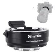 Adaptador-Commlite-de-Lente-Canon-EF---EF-S-para-Camera-FujiFilm-X-Mount-com-Autofoco-Eletronico--CM-EF-FX-