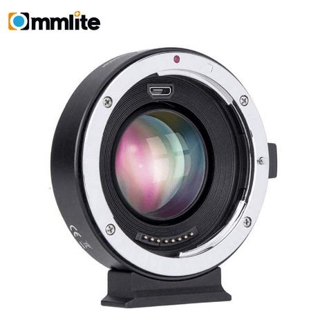 Adaptador-Commlite-Lente-Canon-EF-para-Camera-Canon-EOS-M-Autofoco-Eletronico-Booster-0.71x--CM-EF-EOSM-Booster-