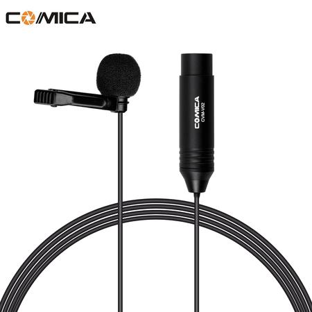 Microfone-Lapela-Comica-CVM-V02O-Omnidirecional-com-Conector-XLR--4.5m-