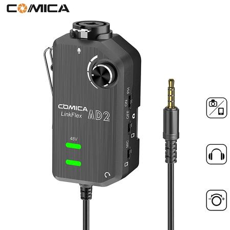 Interface-de-Audio-XLR-Guitarra-e-Microfone-Comica-LinkFlex-AD2-SmartPhones-e-Cameras--TRRs-3.5mm-