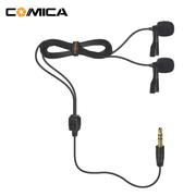 Microfones-de-Lapela-Duplo-Comica-CVM-D02B-Omnidirecional-para-Cameras-e-SmartPhones--2.5m-