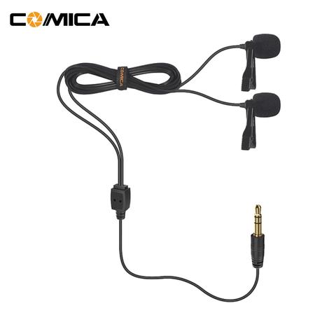 Microfones-de-Lapela-Duplo-Comica-CVM-D02B-Omnidirecional-para-Cameras-e-SmartPhones--6.0m-