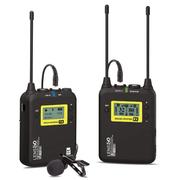 Sistema-Microfone-Lapela-Sem-Fio-LensGo-LWM-328C-Wireless-99-Canais-UHF-Broadcast