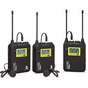 Sistema-Duplo-Microfone-Lapela-LensGo-LWM-328C-Wireless-99-Canais-UHF-Broadcast