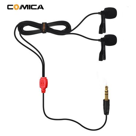 Microfones-de-Lapela-Duplo-Comica-CVM-D02R-Omnidirecional-para-Cameras-e-SmartPhones--4.5m-