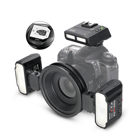 Flash-Circular-Macro-Meike-MK-MT24IIN-TTL-Ring-Flash-Twin-para-Nikon