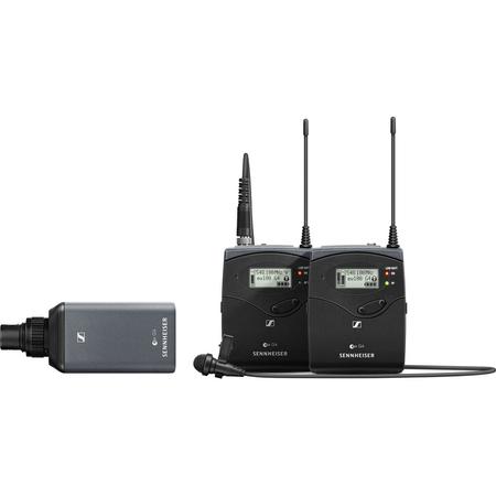 Sistema-Combo-Microfone-Sennheiser-EW-100-ENG-G4-G-Wireless-com-Montagem-em-Camera