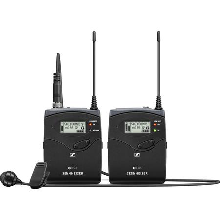Sistema-Microfone-Lapela-Omni-Sennheiser-EW-122P-G4-B-Wireless-com-Montagem-em-Camera