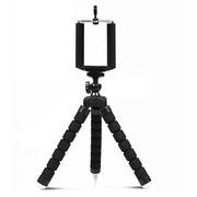 Mini-Tripe-de-Mesa-Flexivel-360°-com-Suporte-para-SmartPhone--Preto-