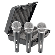 Kit-3x-Microfones-de-Mao-CSR-HT-48a-XLR-Dinamico-Unidirecional-c--Maleta