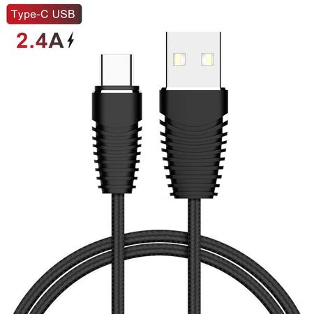 Cabo-USB-x-USB-C--Tipo-C--Carregamento-Rapido-2.4A-de-1m---Preto