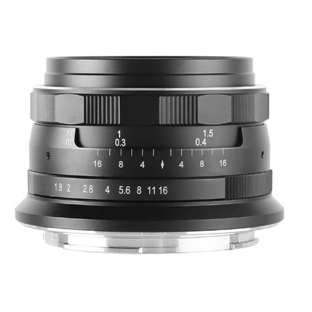 Lente Meike 25mm f/1.8 Manual para Sony E-Mount