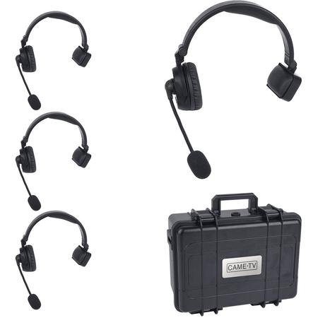 Kit-Intercomunicador-4x-Fones-de-Ouvido-Came-TV-Waero-Digital-Wireless-Headset-Duplo-com-Case-Rigido
