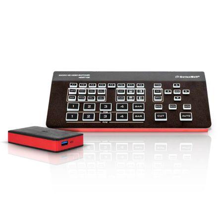 Switcher-MultiView-de-Video-DeviceWell-HDS7105-4x-HDMI-e-DP-DisplayPort-5-Canais-LiveOBS