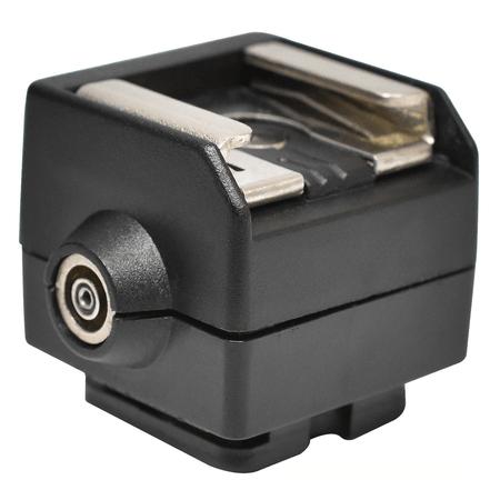 Adaptador-Universal-Sapata-Flash-SC-2-Hot-Shoe-com-Sincronizacao-PC-SYNC--Canon-e-Nikon-