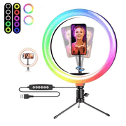 Iluminador-Led-Circular-8--MJ20-RGB-25W-Soft-Ring-Light-Live-20cm-USB-com-Mini-Tripe-e-Suporte-SmartPhone