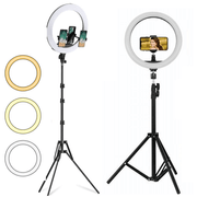 Kit-2x-Iluminadores-Led-Ring-Light-de-18----10--com-Tripe-e-Suporte-de-Celular
