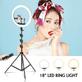 Kit-2x-Iluminadores-Led-Ring-Light-de-18----10--com-Tripe-e-Suporte-de-Celular
