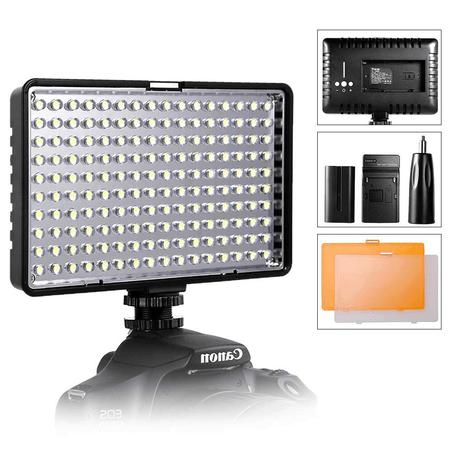 Iluminador-Painel-Led-TL-160-Slim-Video-Light-com-Bateria-e-Carregador