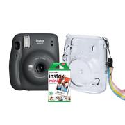 Kit-Camera-Instantanea-FujiFilm-Instax-Mini-11-Grafite---Bolsa-Crystal---10-Filmes-Instantaneo
