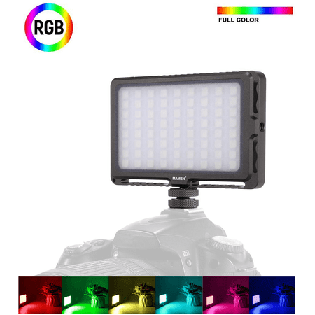 Iluminador-Led-RGB-LED-72R-Full-Color-Video-Light-Compacto-2200K-25000K-com-Bateria-Interna