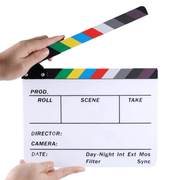 Claquete-Diretor-Clapper-Board-1.8-Acrilico-com-Varas-Coloridas--Branca-