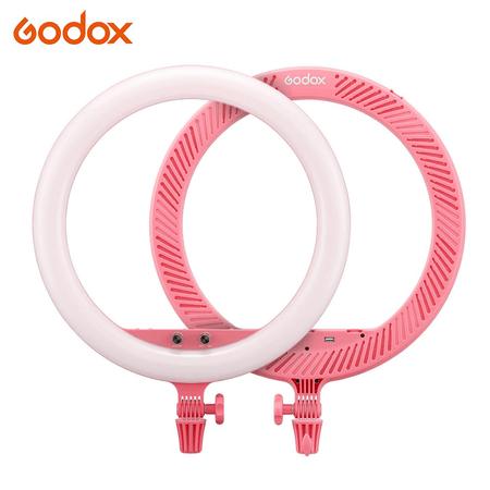 Iluminador-Circular-LED-Godox-LR150-18----30cm-Ring-Light-38w-Bi-Color--Rosa-