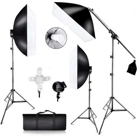 Kit-Iluminacao-Estudio-Softbox-50x60cm-8x-Lampadas-55w-e-1x135w-Girafa-e-Tripes-de-Iluminacao--110V-