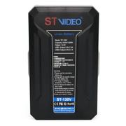 Bateria-V-Mount-STVideo-ST-130V-Broadcast-de-130Wh---14.8V-USB-PowerBank-D-Tap-9000mAh
