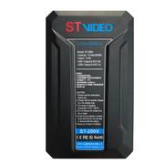 Bateria-V-Mount-STVideo-ST-200V-Broadcast-de-200Wh---14.8V-USB-PowerBank-D-Tap-13000mAh