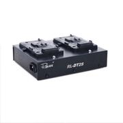 Carregador-Duplo-Rolux-RL-DT2S-Broadcast-para-Baterias-V-Mount-com-Saida-XLR-4-Pinos--Bivolt-