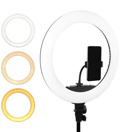 Iluminador-Circular-Led-Ring-Light-18----46cm-65W-USB-com-Fonte-Suporte-SmartPhone-e-Bolsa