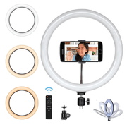 Iluminador-Circular-Led-320A-Ring-Light-12----35cm-30w-com-Controle-Remoto-Suporte-SmartPhone-e-Fonte-Bivolt