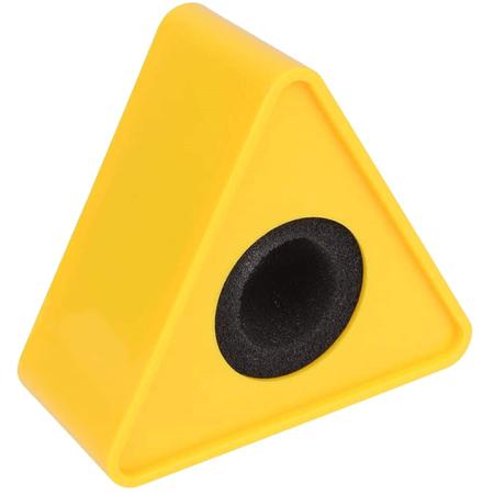 Canopla-Flag-de-Microfones-Triangular-para-Entrevista---Amarelo