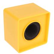 Canopla-Flag-de-Microfones-38mm-Quadrada-para-Entrevista---Amarela