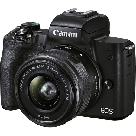 Camera-Canon-EOS-M50-Mark-II-Mirrorless-4K-com-Lente-15-45mm-STM--Preta-