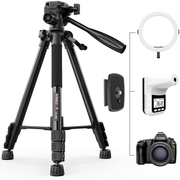 Tripe-de-Video-Kingjoy-VT-860-Flip-Light-Lock-com-Cabeca-Bidirecional-Panoramica-360°