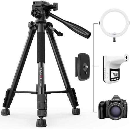 Tripe-de-Video-Kingjoy-VT-860-Flip-Light-Lock-com-Cabeca-Bidirecional-Panoramica-360°