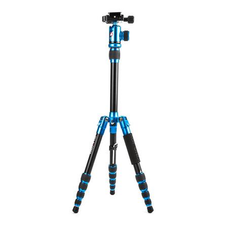Tripe-com-Cabeca-Esferica-Ball-Head-KingJoy-C1229B-QF00T-Azul-Fibra-de-Carbono-para-ate-10kg