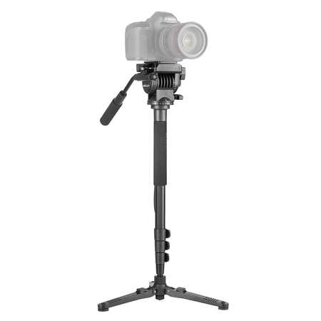 Monope-para-Video-Kingjoy-MP1008F-com-Cabeca-Semi-Hidraulica-Fluida-para-5Kg
